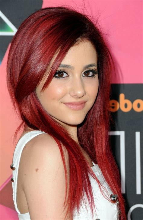 hairstyles for long hair red sleek long red hairstyle for women ariana grande