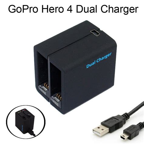 Charger Gopro 4 aliexpress buy go pro accessories gopro hero4 dual battery charger for go pro 4 ahdbt