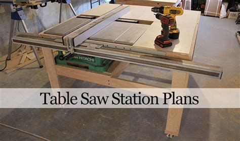 Table Saw Workstation Plans by Our Home From Scratch