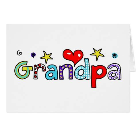 Birthday Greeting Cards For Grandfather Grandpa Greeting Card Zazzle