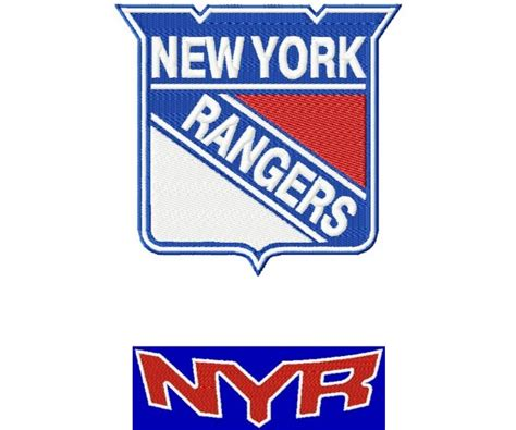 logo embroidery nyc new york rangers 2 logos machine embroidery design for