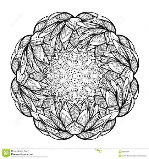 fior di loto stilizzato illustrazione di zen fiore di loto disegno lineare