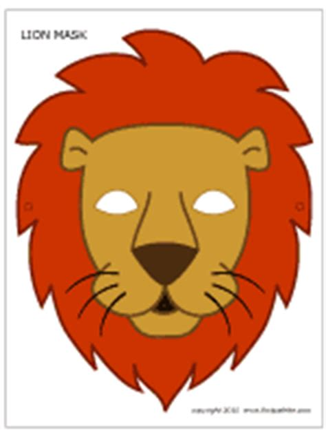 lion mask | printable templates & coloring pages