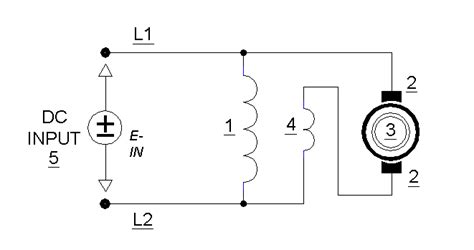 schematic dc motor armature and field series schematic