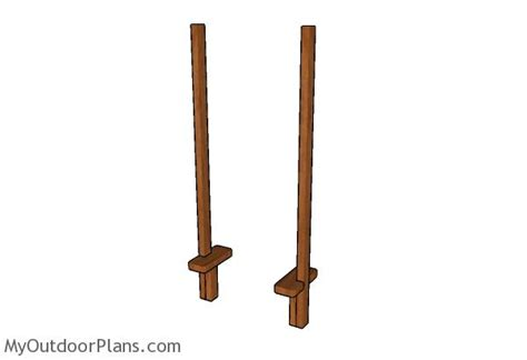 wooden stilts plans myoutdoorplans  woodworking
