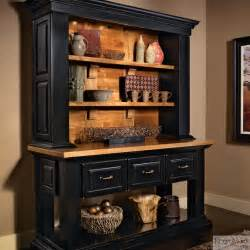 Kraftmaid hutch in onyx rustic kitchen cabinetry detroit by