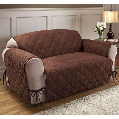cover your sofa quilted microfiber total furniture cover with ties
