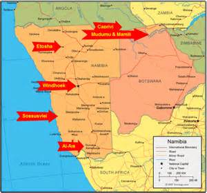 africa map namibia namibia map images