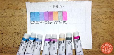 holbein watercolor swatches my watercolors brushes and other painting tools