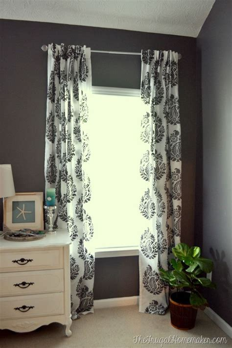 rani paisley indian damask wall stencil diy curtains