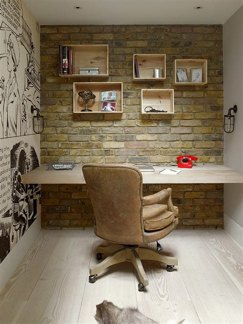 trendy textural 25 home offices with brick walls