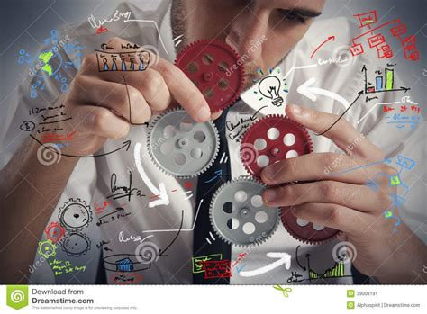 build a build a business system stock image image of part
