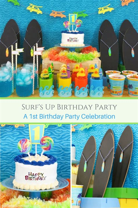 Party Decorations To Make At Home our son s first birthday party surfer theme