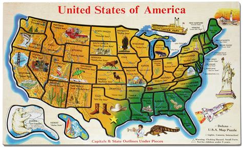 usa map puzzle maps usa map puzzle