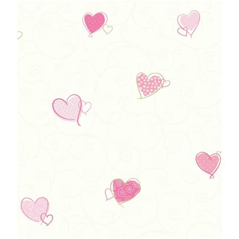 colorful removable wallpaper york wallcoverings inc growing up kids colorful hearts