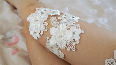 Handmade Garter - 30 handmade wedding garters to die for stay at home
