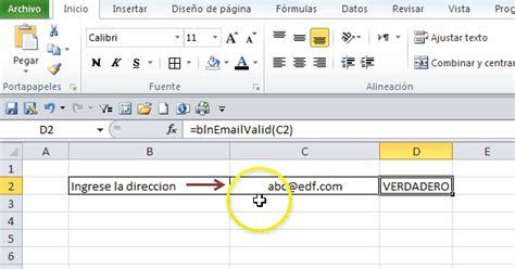 java pattern a za z0 9 validaci 243 n de direcciones de e mail en excel jld excel
