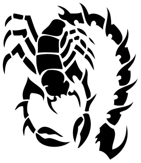 black ink tribal scorpion tattoo design