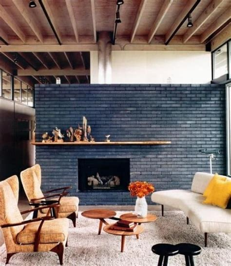painted brick fireplace wall 6555 grand river interior
