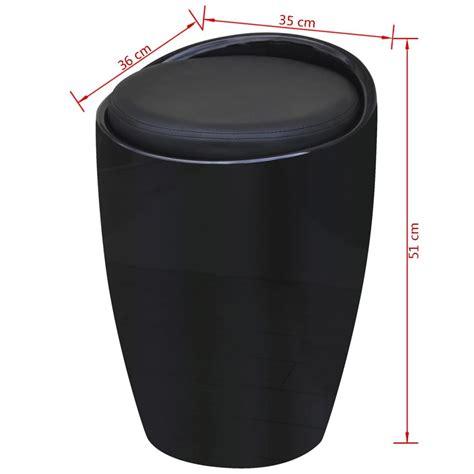sgabello abs sgabello in abs nero rotondo con sedile rimovibile nero