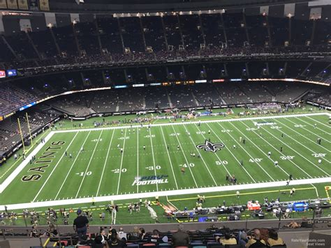 Superdome Sections by Superdome Section 642 New Orleans Saints Rateyourseats