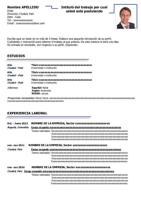 curriculum vitae 2016 download formato word plantillas para hoja de vida 2016