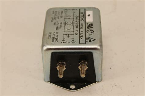 Tdk Noise Filter Zcw 2220 01 tdk zag2220 11s noise filter plc surplus supply llc