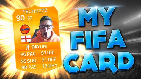 how to make your own ultimate team card my own fifa card limited edition fifa card fifa 15