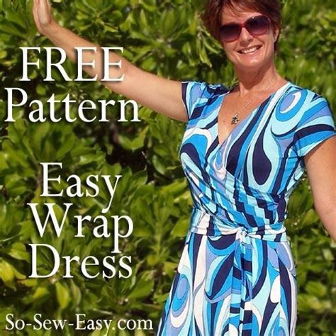 free sewing patterns so sew easy wrap dress by so sew easy craftsy