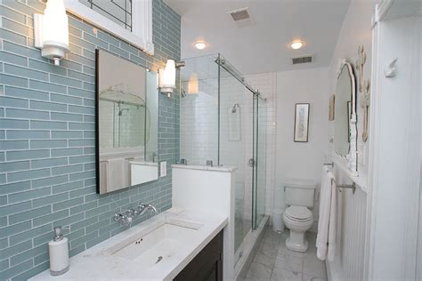glass tile backsplash bathroom subway glass tile backsplash bathroom eclectic with bathroom blue glass shower