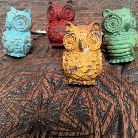 dogs owl swallows door knobs drawer pulls handles metal