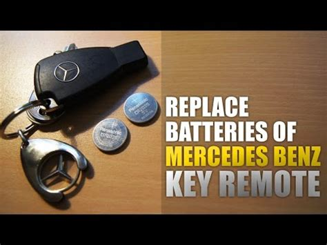 mercedes benz key remote battery change (w211) youtube