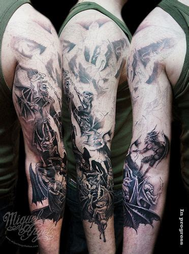 heaven and hell sleeve tattoo designs 17 best heaven and hell images on