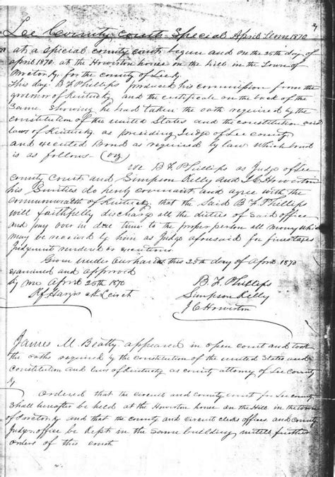 County Ky Court Records B F Phillips County Ky Judge