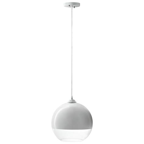 Pendant Light White Half Dome White Pendant Light Brickell Collection Modern