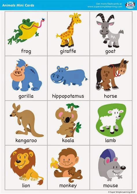 free printable animal flashcards for toddlers english time junio 2014