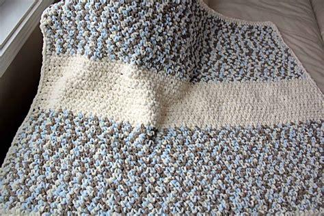 Simple Crochet Baby Blanket Patterns by Diy Crochet Baby Blanket With Free Pattern Crave