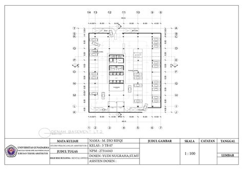 studio perancangan arsitektur  office building  mdio rifqi pw  coroflotcom