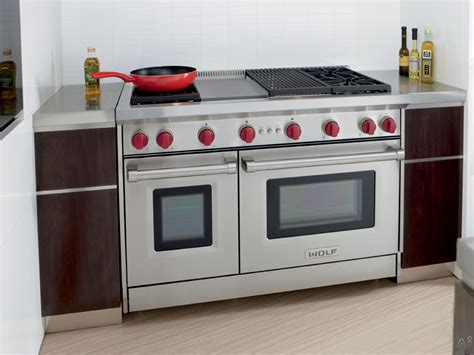 wolf kitchen appliances prices wolf gr484cg 48 quot pro style gas range with 4 dual stacked