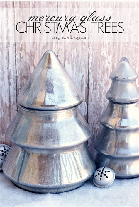diy mercury glass christmas trees a night owl blog