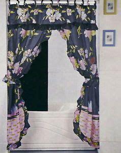 black double swag shower curtain black ruffled double swag fabric shower curtain liner on