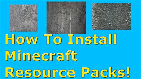 how to install minecraft resource packs 1710 how to install minecraft resource texture packs 2015