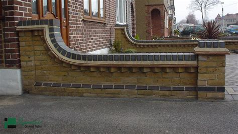Decorative Garden Wall by Brick Work And Fencing Signature Driveways And Patios