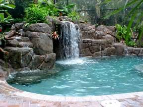 backyard pools with waterfalls swimming pool object bomb