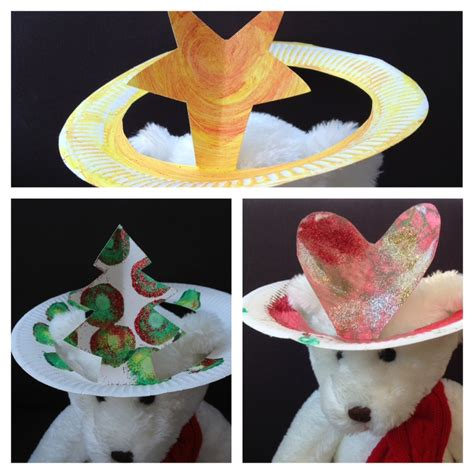 paper christmas tree hat pattern paper plate toddler hat heart star christmas tree