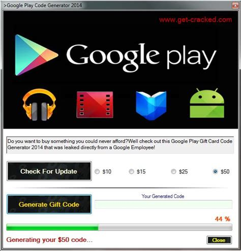 Free Google Play Gift Card Redeem Codes - free google play code generator 2014 get cracked