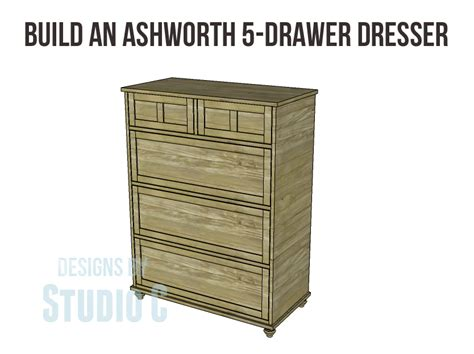 1 drawer nightstand plans build an ashworth 5 drawer dresser designs by studio c