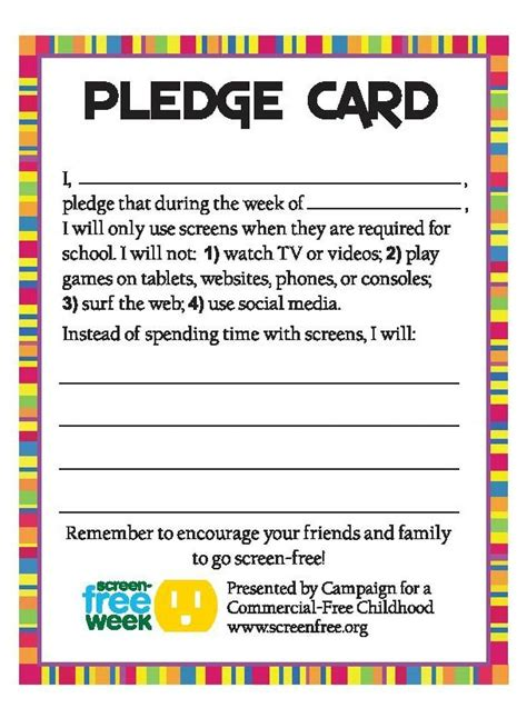 caign pledge card template how to host a quot wellness week quot at school real nutrition