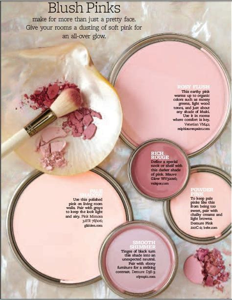 blush pink paint paint palette blush pinks interiors by color