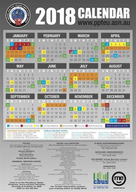 printable calendar 2018 western australia cfmeu vic calendar 2017